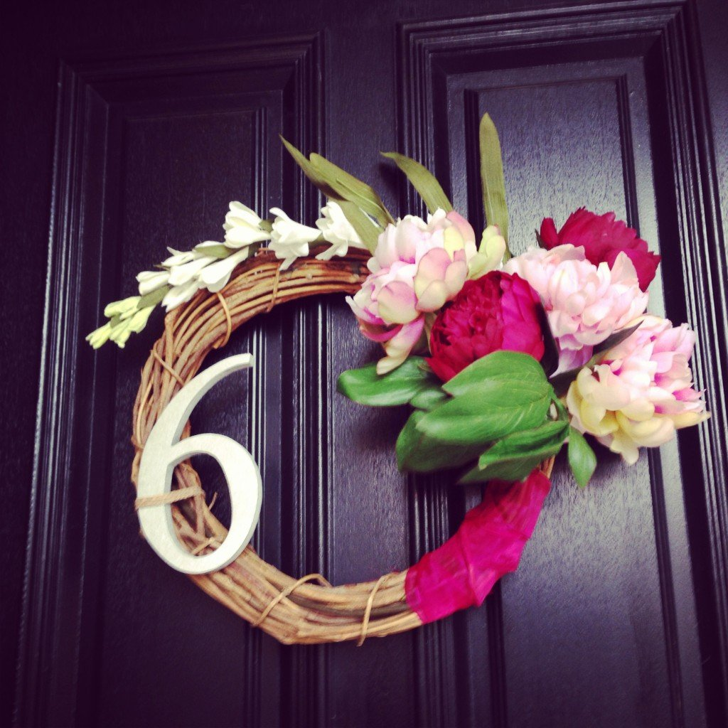 make floral wreath