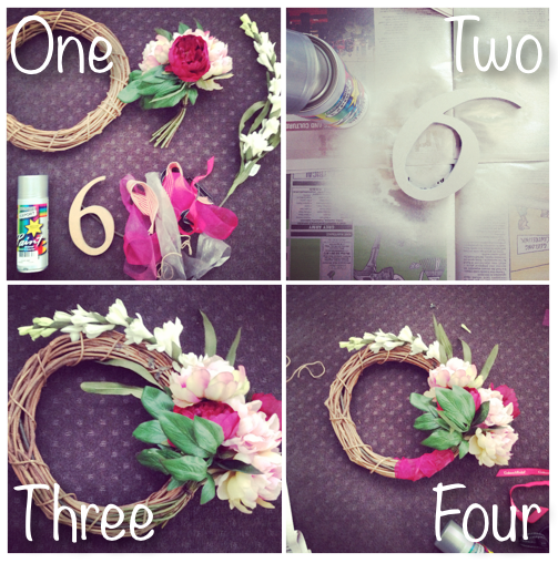 steps to make a wreath