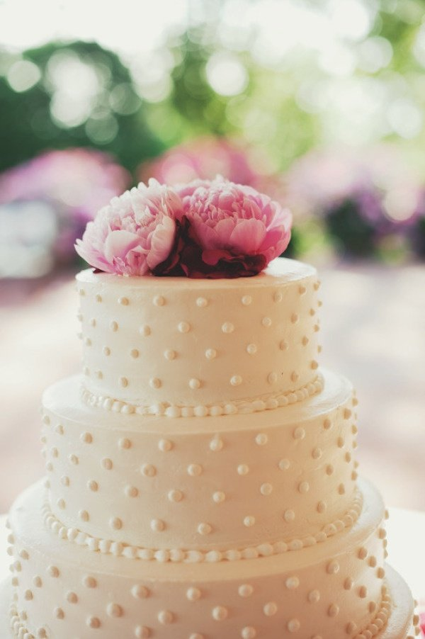 dot wedding cake