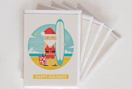 XMAS_cards_GROUP_Flat_SANTA_SQ