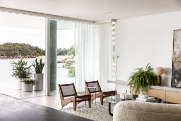 Inside a coastal apartment on Manly's water's edge